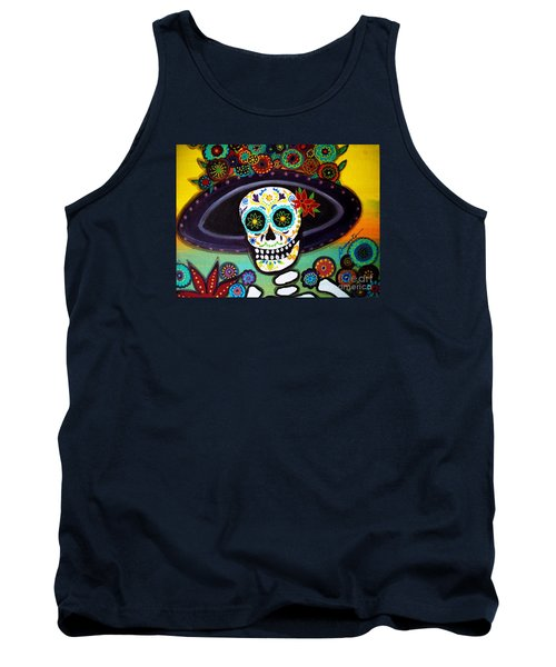 Tank Top featuring the painting Catrina by Pristine Cartera Turkus