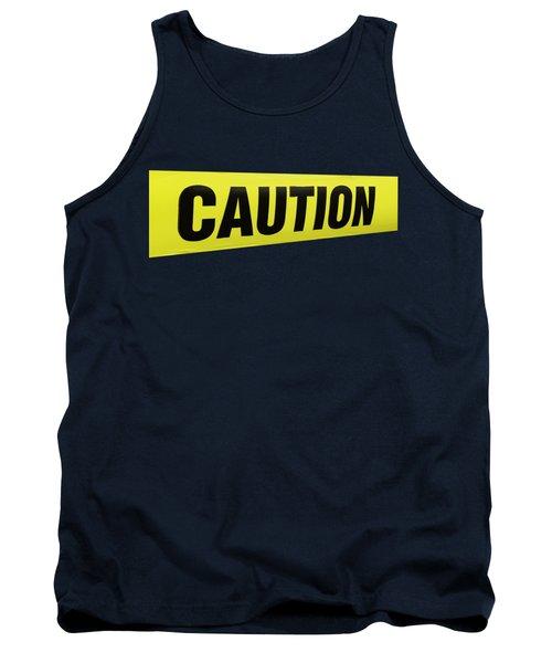 Caution Tape Tank Top