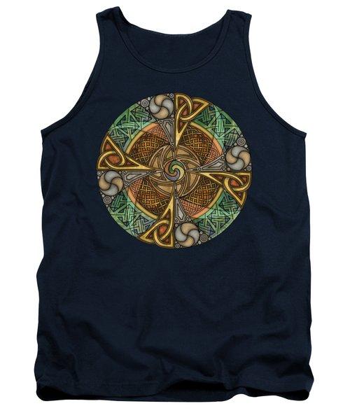 Celtic Aperture Mandala Tank Top by Kristen Fox