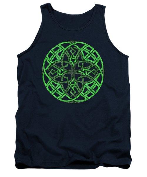 Celtic Clover Mandala Tank Top