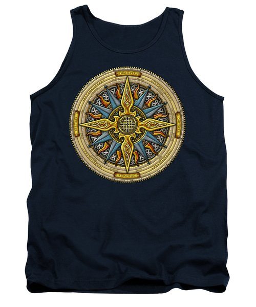 Tank Top featuring the mixed media Celtic Compass by Kristen Fox