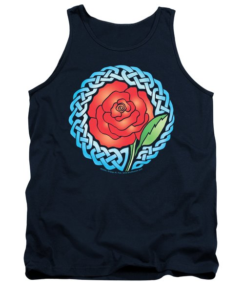Celtic Rose Stained Glass Tank Top