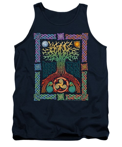 Tank Top featuring the mixed media Celtic Tree Of Life by Kristen Fox