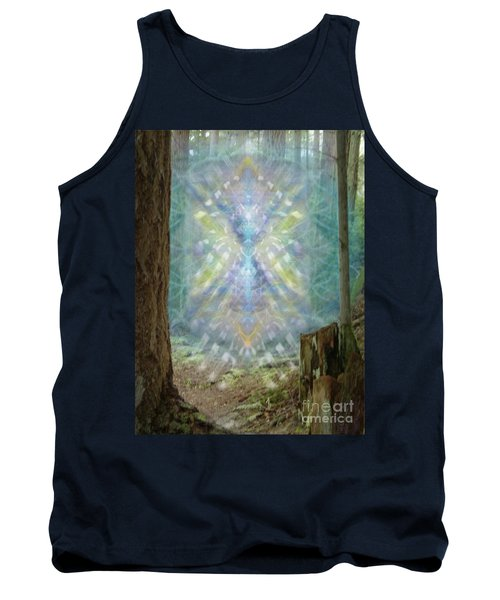 Tank Top featuring the digital art Chalice-tree Spirt In The Forest V2 by Christopher Pringer