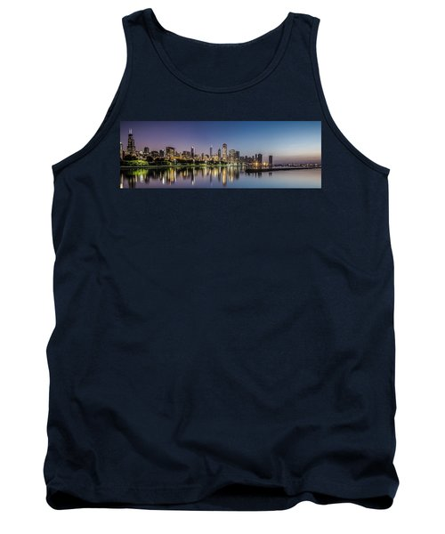 Chicago Skyline At Dawn With A Panoramic Crop  Tank Top