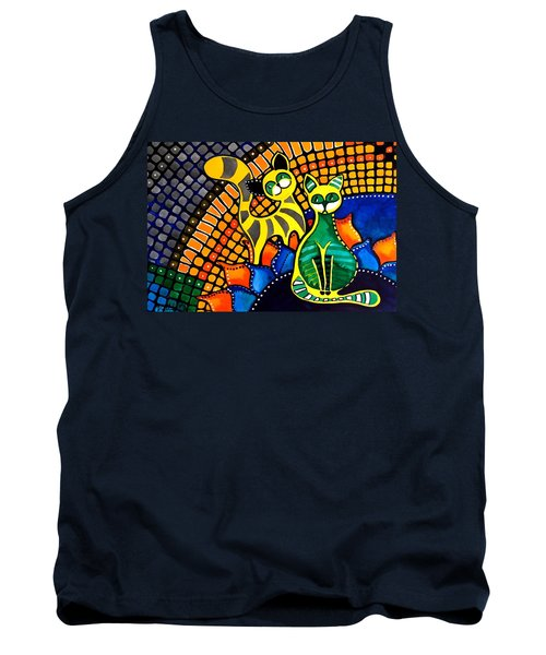 Cheer Up My Friend - Cat Art By Dora Hathazi Mendes Tank Top