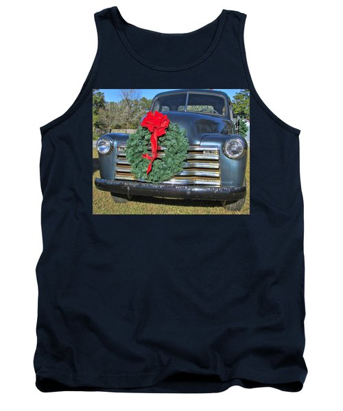 Chevy Christmas Tank Top by Victor Montgomery