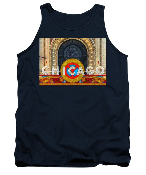 Chicago Theatre Sign Dsc2176 Tank Top by Raymond Kunst