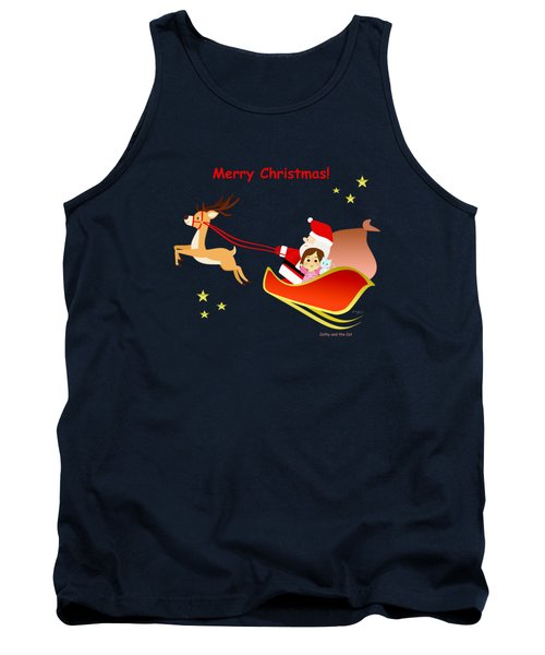 Christmas #3 And Text Tank Top