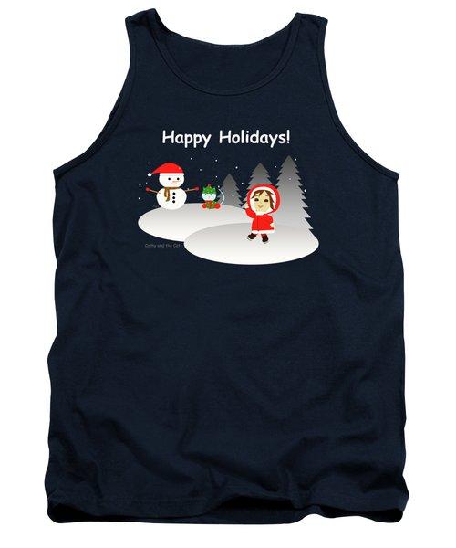 Christmas #6 And Text Tank Top