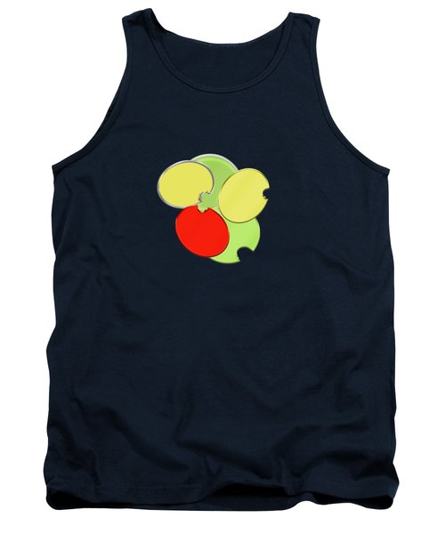 Circles Of Red, Yellow And Green Tank Top