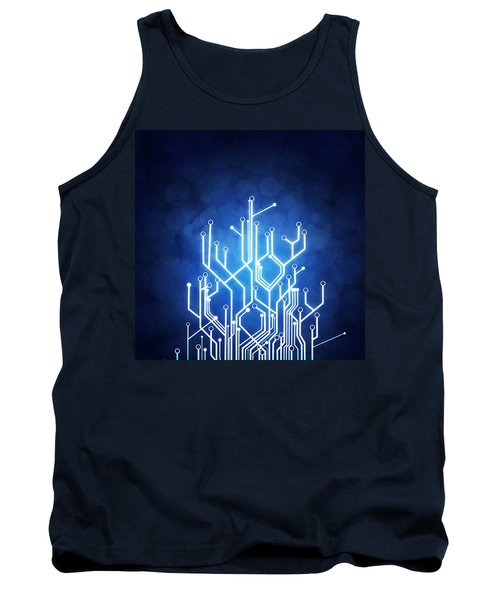 Circuit Board Technology Tank Top by Setsiri Silapasuwanchai