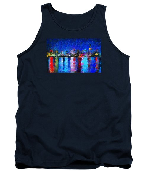 City Limits Tokyo Tank Top by Sir Josef - Social Critic -  Maha Art