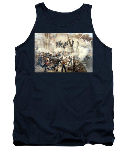 Civil War Naval Battle Tank Top