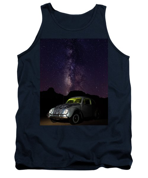 Classic Vw Bug Under The Milky Way Tank Top
