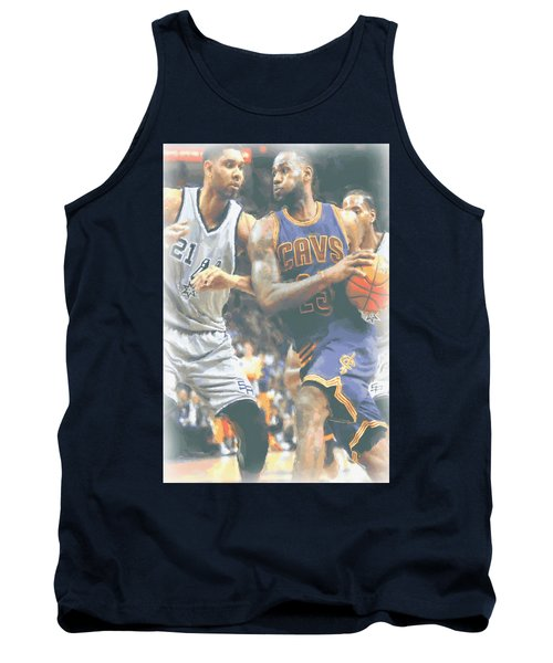 Cleveland Cavaliers Lebron James 4 Tank Top by Joe Hamilton
