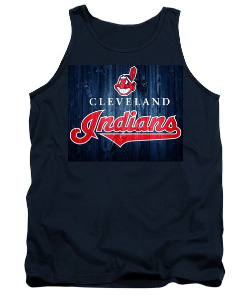 Tank Top featuring the photograph Cleveland Indians Barn Door by Dan Sproul
