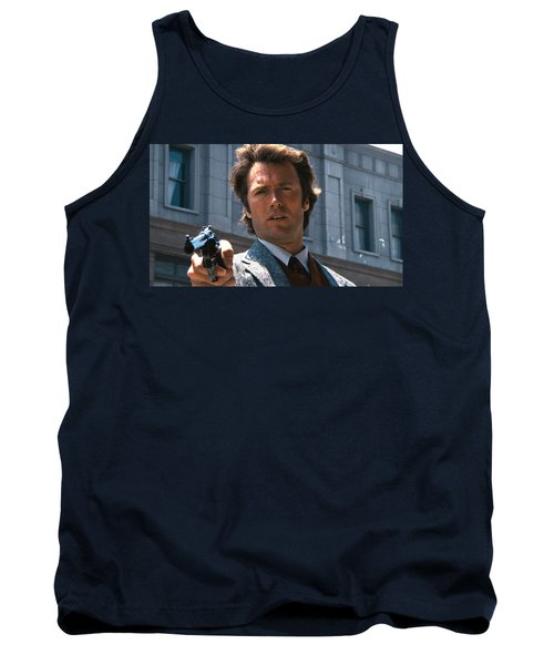 Clint Eastwood With 44 Magnum Dirty Harry 1971 Tank Top
