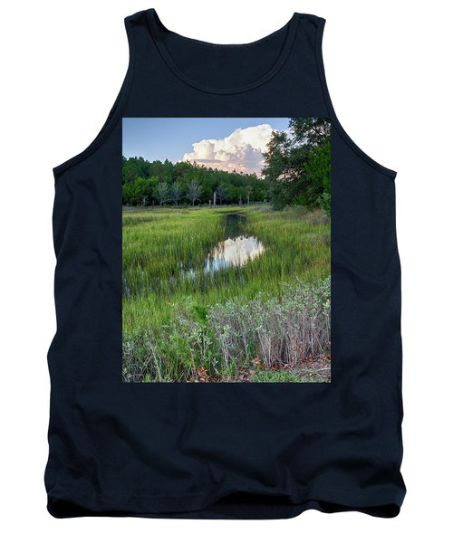 Tank Top featuring the photograph Cloud Over Marsh by Patricia Schaefer