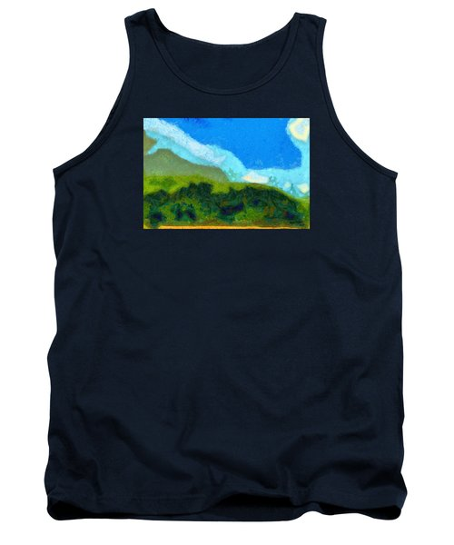 Tank Top featuring the painting Cloud River by Spyder Webb