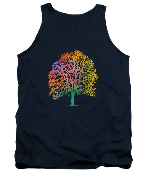 Color Abstract Painting Tank Top