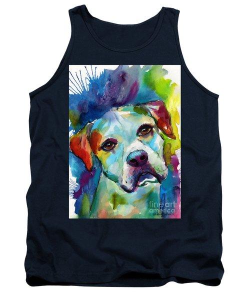 Colorful American Bulldog Dog Tank Top