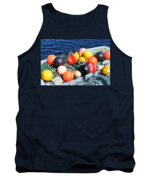 Colorful Buoys Tank Top by Barbara Griffin