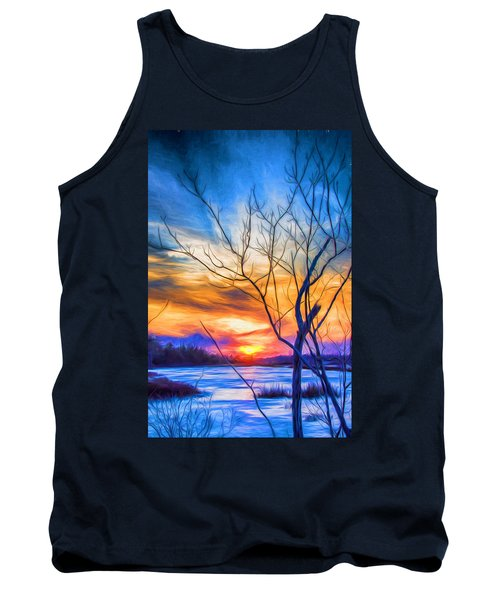 Colorful Cold Sunset Tank Top