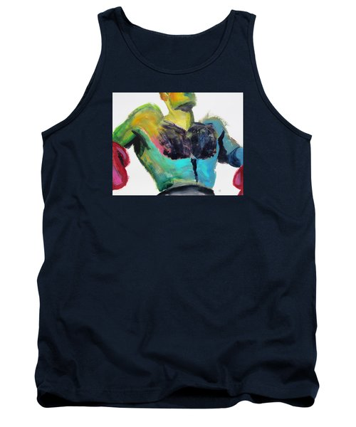 Colorful Hairy Boxer Tank Top