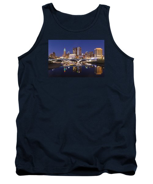 Columbus Skyline Reflection Tank Top by Alan Raasch