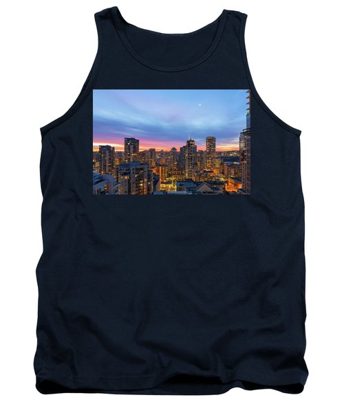 Condominium Buildings In Downtown Vancouver Bc At Sunrise Tank Top