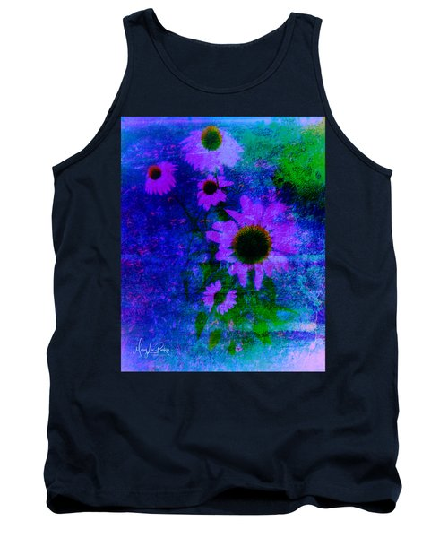 Coneflowers Abstract Tank Top