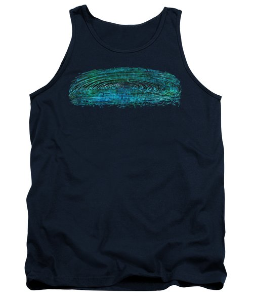 Tank Top featuring the mixed media Cool Spin by Sami Tiainen