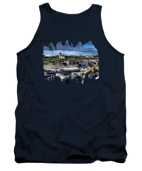 Coquille River Lighthouse And Driftwood Tank Top