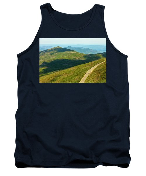 Tank Top featuring the photograph Country Road To My Home Whiteface Mountain New York by Paul Ge