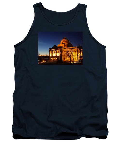 Tank Top featuring the photograph Courthouse At Night by Christina Verdgeline