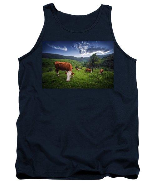 Cows Tank Top by Bess Hamiti