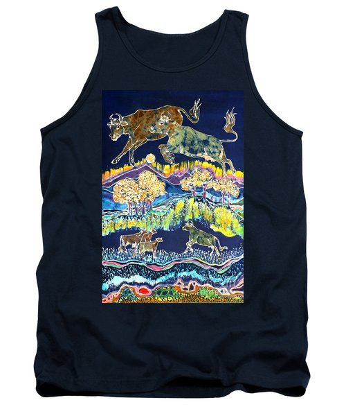 Cows Jumping Over The Moon Tank Top