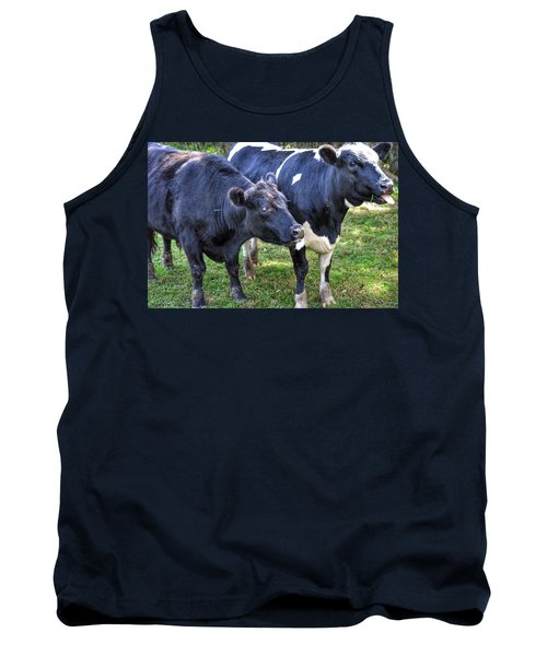 Cows Sticking Out Tongues Tank Top