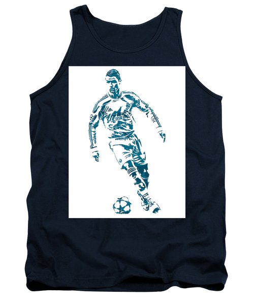 Cristiano Ronaldo Real Madrid Pixel Art 1 Tank Top