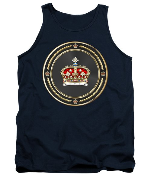 Crown Of Scotland Over Blue Velvet Tank Top