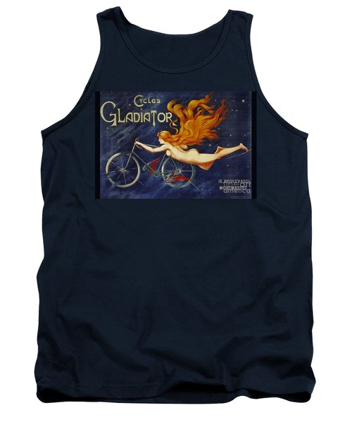 Cycles Gladiator  Vintage Cycling Poster Tank Top