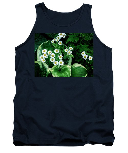 Daisies And Hosta In Colour Tank Top