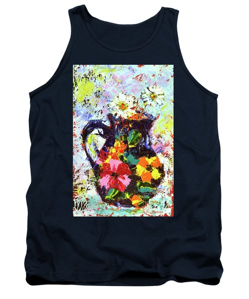 Daisies In The Portuguese Jug Tank Top by Lynda Cookson