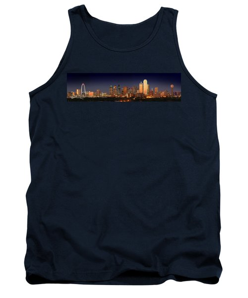 Dallas Skyline At Dusk  Tank Top by Jon Holiday