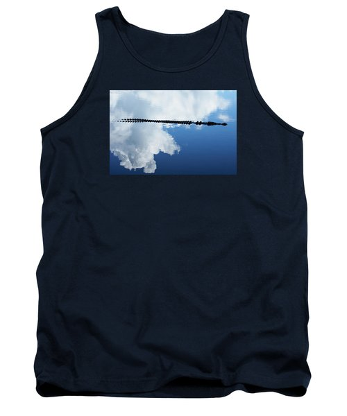 Tank Top featuring the photograph Dangerous Reflection Saltwater Crocodile by Gary Crockett