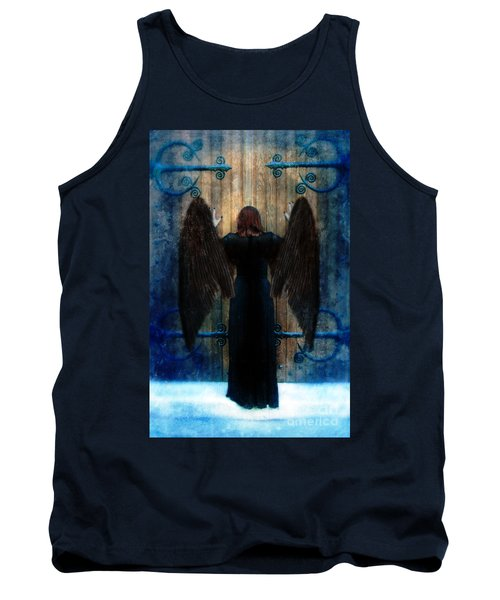 Dark Angel At Church Doors Tank Top by Jill Battaglia