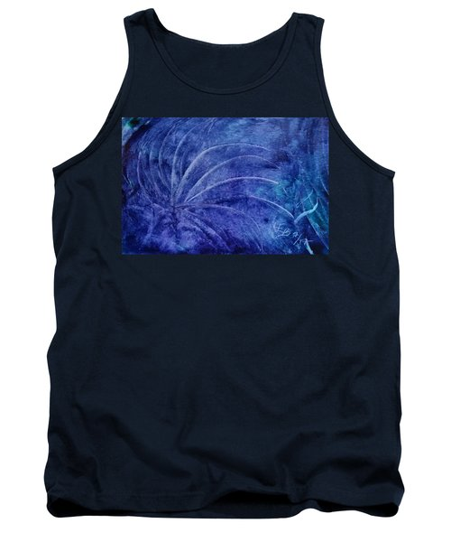 Dark Blue Abstract Tank Top