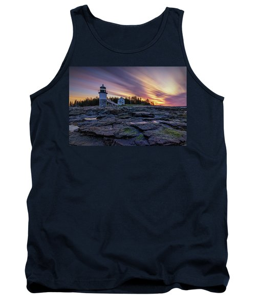 Dawn Breaking At Marshall Point Lighthouse Tank Top