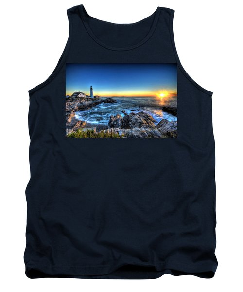 Dawn At Portland Head Lighthouse Tank Top
